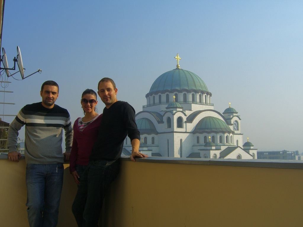 Belgrad Teil 2 / Erstes Teamfoto im Office